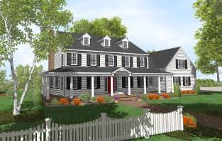 Two Story House Plans With Front Porch by Gallery For Gt Colonial House Plans With Front Porch