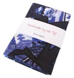 Handmade Napkins - bluewillow napkins handmade by me