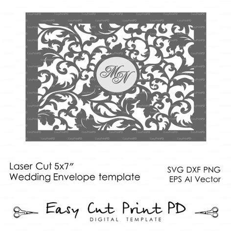 recollections cards and envelopes 5x7 template 5x7 wedding leaves envelope template laser by easycutprintpd