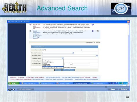 Advanced Email Search Ppt Overview Of The Vha Corporate Data Warehouse Cdw The Vssc Portal And