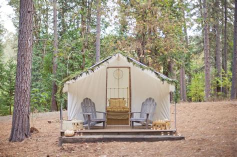 Tent Cabins Northern California by The Pigment Parchment Pigment Parchment