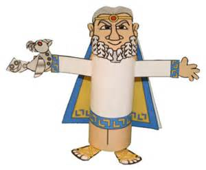 Greek Crafts For Kids - king minos toilet paper roll craft