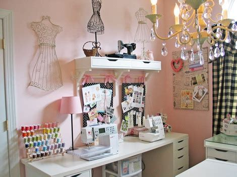 Organizating by 10 Amazing Sewing Room Ideas