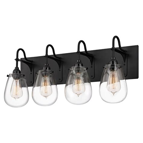 Industrial Bathroom Light Black Chelsea By Sonneman Black Bathroom Light