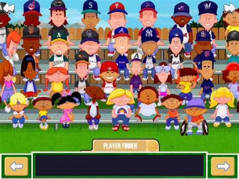 Backyard Baseball Play Backyard Baseball 2001 Player Cards Selection Menu