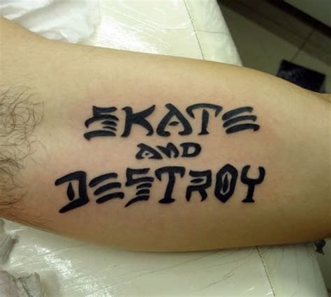 skate and destroy tattoo skate and destroy thrasher skateboarding