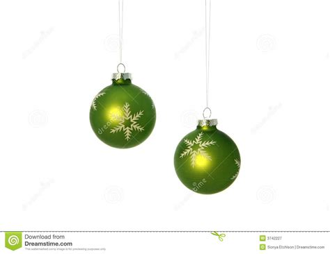 green christmas bulbs royalty free stock photography