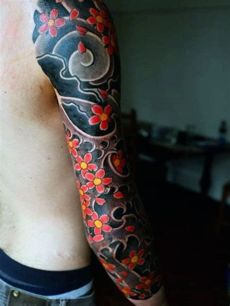 japanese flower tattoos for men 50 japanese flower designs for floral ink ideas