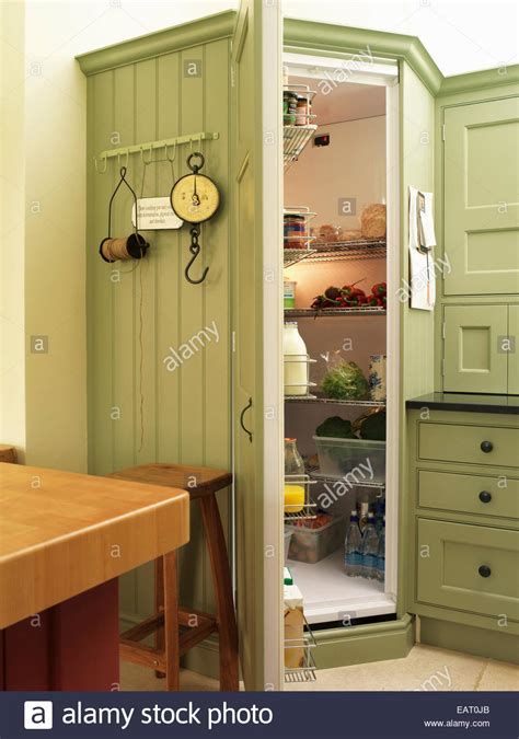 Pantry Set by Walk In Chilled Larder Pantry Set In Green Kitchen Unit