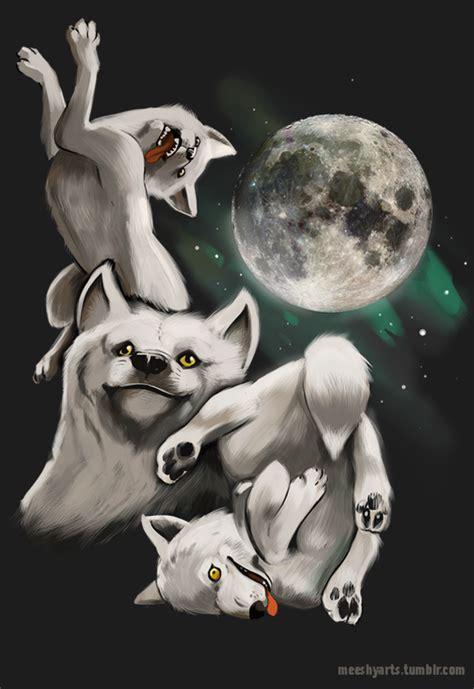 three wolf moon moon moon moon know your meme
