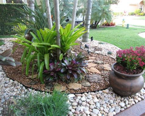 Garten Mit Palmen Gestalten 3162 by 1001 Ideen Zum Thema Blumenbeet Mit Steinen Dekorieren