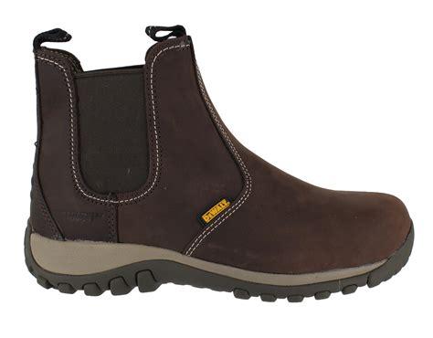 steel toe slip on boots dewalt radial mens steel toe sbp safety dealer slip on