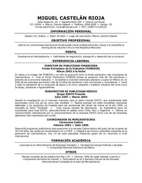 resume template in spanish sle resume cover letter format
