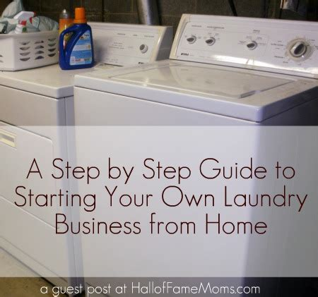 steps  starting  laundry business  home