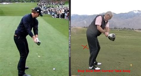 golf swing slice correction stop slicing back swing golf tips cahill golf instruction