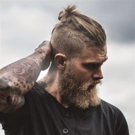 11 manly man bun top knot hairstyle combinations the man bun hair trend ok magazine haircut names for men