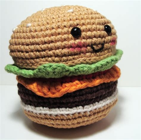 Amigurumi Hamburger Pattern Free | nerdigurumi free amigurumi crochet patterns with love