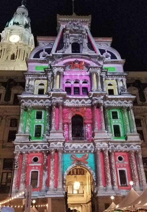 city hall light show philadelphia holiday light show at city hall