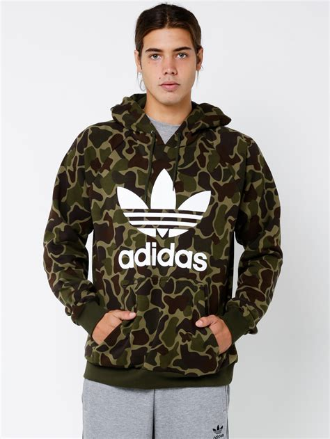 adidas camo hoodie in camouflage