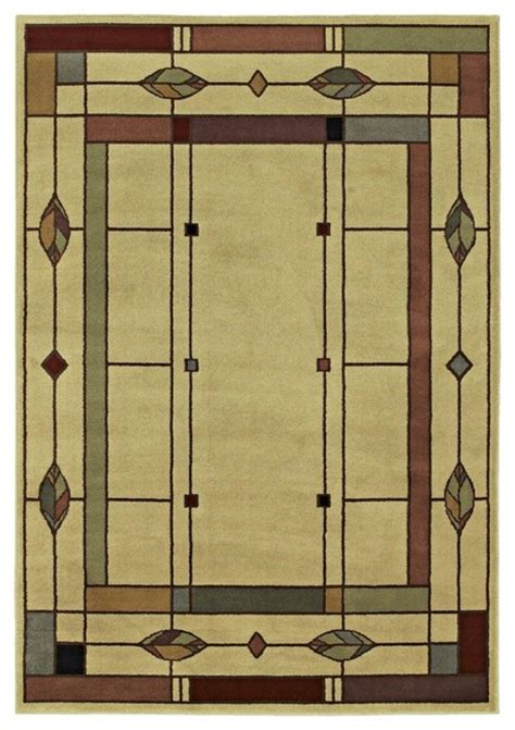 Mission Style Area Rugs Arts And Crafts Mission Timber Lake Mission Area Rug Traditional Rugs By Ls Plus