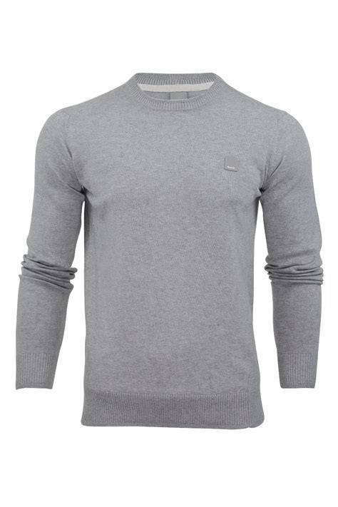 mens bench jumpers mens jumper bench hydriant cotton knit sweater crew neck long sleeved ebay