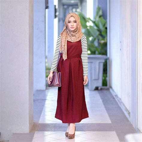 Baju Muslim Simply Byna Dress 18 model baju muslim terbaru 2018 desain simple casual
