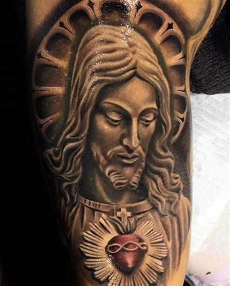 tattoo flash jesus 60 3d jesus tattoo designs for men religious ink ideas