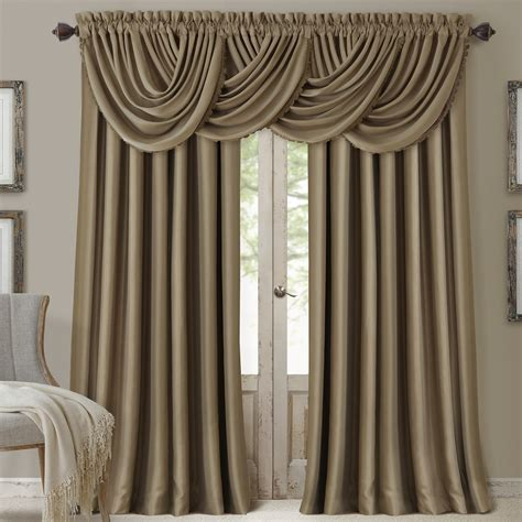 waterfall curtain valance elrene home fashions all seasons blackout waterfall 52