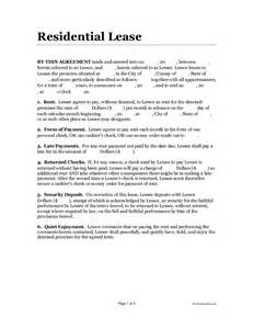 One Page Rental Agreement Template by Doc 7911024 One Page Lease Agreement Anuvratinfo