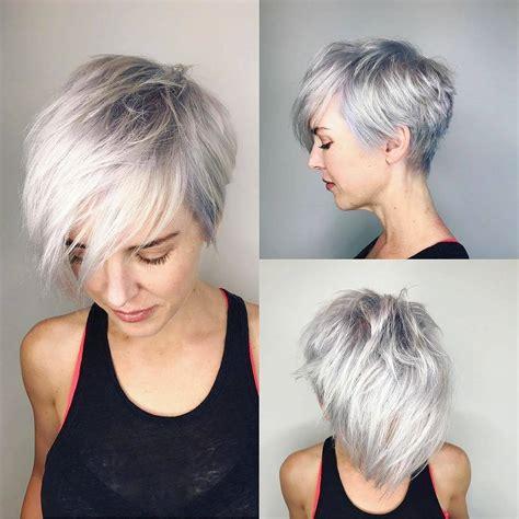 latest short haircut  fine hair  stylish short