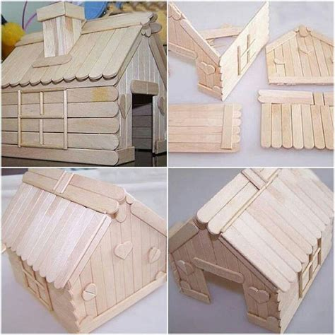 popsicle stick house ice cream stick house crafts pinterest ice cream