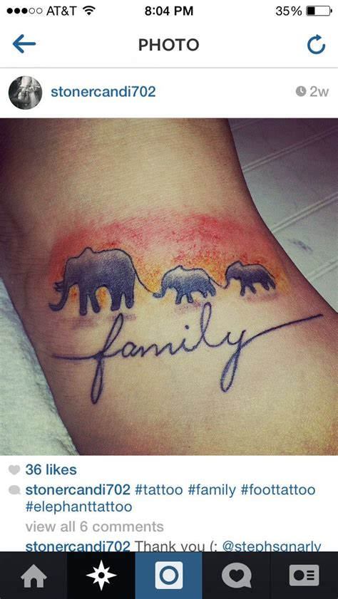 elephant family tattoo elephant elephant family elephanttattoo