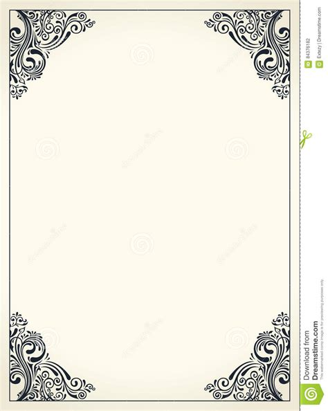 pink lacy vintage wedding greeting card template stock vector