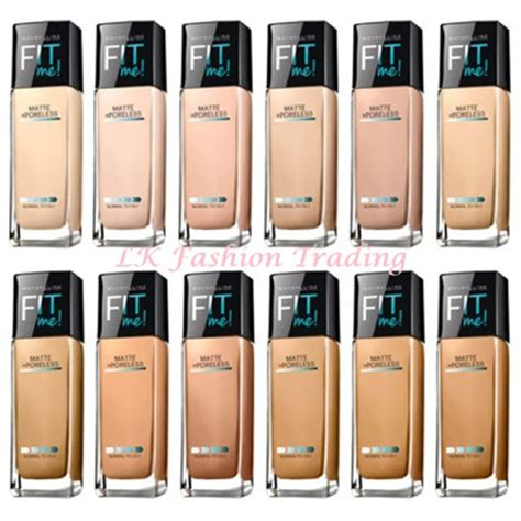 Foundation Maybelline Untuk Kulit Kering qoo10 maybelline fit me matte poreless foundation fit
