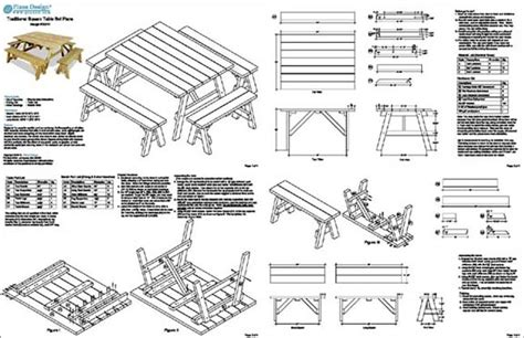 classic square picnic table woodworking plans pattern