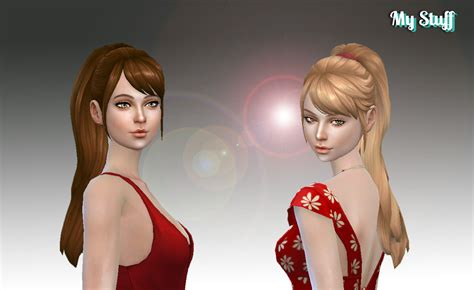 sims 4 hairs butterflysims side ponytail hair 164 sims 4 hairs mystufforigin confident ponytail hair