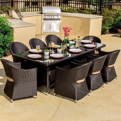 Why Resin Finished Wicker Outdoor Furniture Recommended Resin Patio Dining Sets