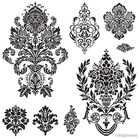 free vector pattern library free design black and white pattern border download free