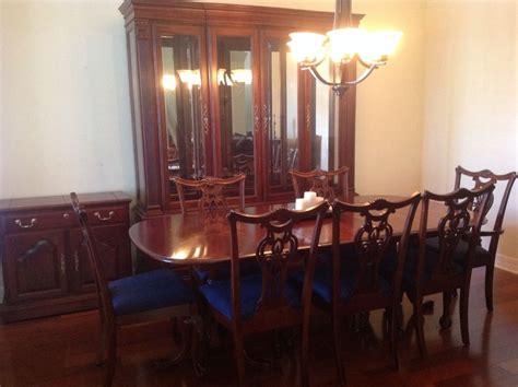 cherry wood heirloom pennsylvania house dining room set  lighted buffet server ebay