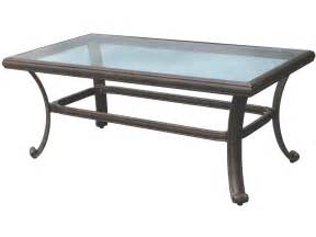 Rectangular Glass Patio Table Darlee Outdoor Living Glass Top Cast Aluminum Antique Bronze 42 X 24 Rectangular Coffee Table