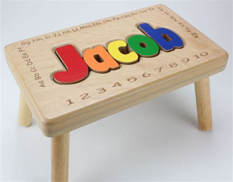 Personalized Stools by Laser Wood Engraving Wood Laser Engraving Laser