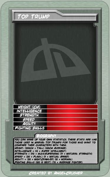 make your own top trumps cards template da top trumps by angelcrusher on deviantart