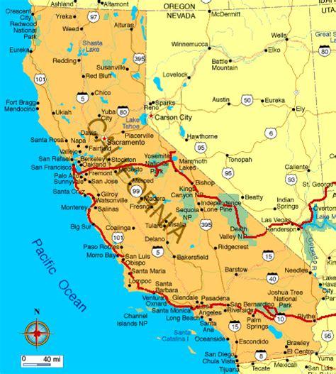 map usa california karte kalifornien map of california marco nef
