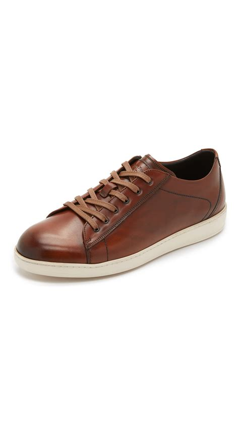 To Boot by Lyst To Boot Bancroft Burnished Leather Sneakers In