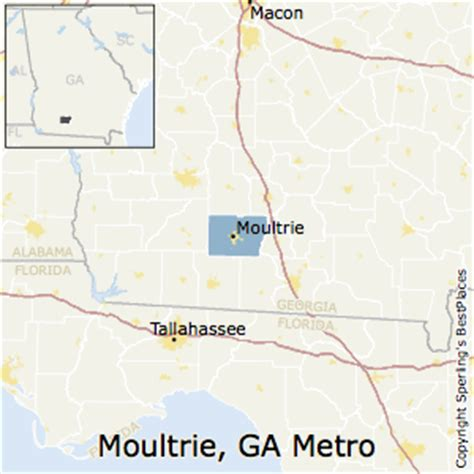 map of moultrie best places to live in moultrie metro area