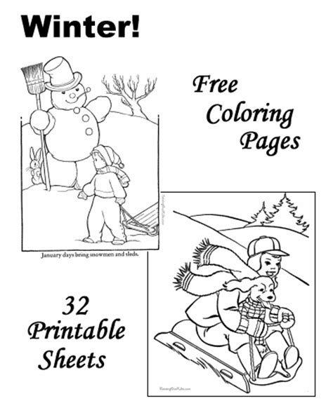 january themed coloring pages winter coloring sheets and pictures