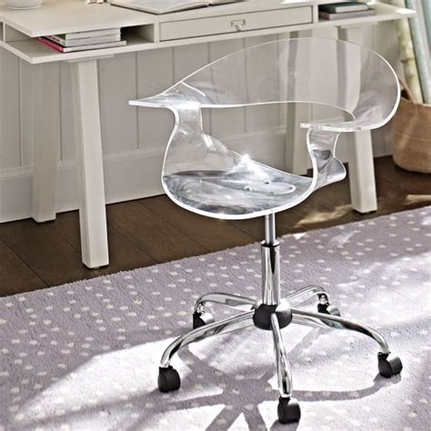 clear acrylic desk chair acrylic swivel chair pbteen