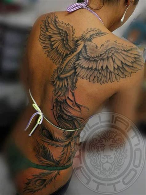 tattoo phoenix miami ink black ink phoenix tattoo on back tattoo pinterest