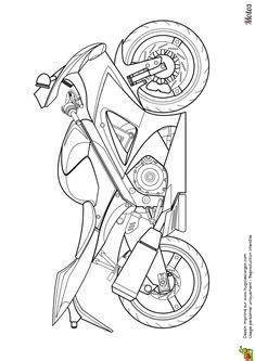 comment dessiner une moto cross   animaux