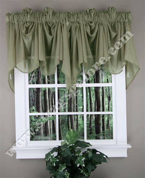 festoon curtains splendor festoon curtain valance olive stylemaster swag